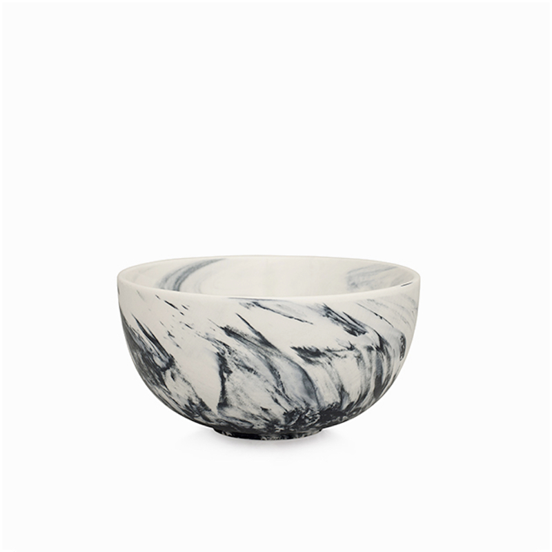 Marble Cereal Bowl Grey