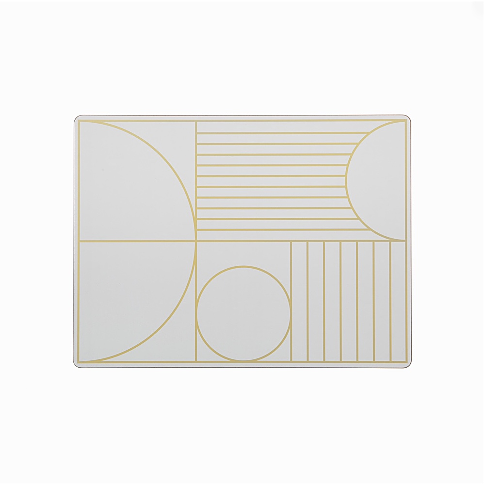 Outline Dinner Mat Off white