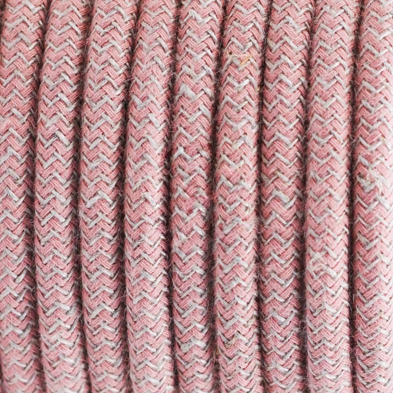 Pink ZigZag Cotton Round
