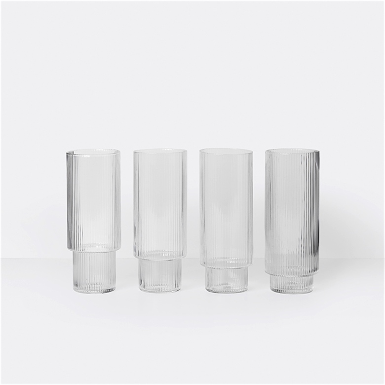 Ripple Long Drink Glasses Set