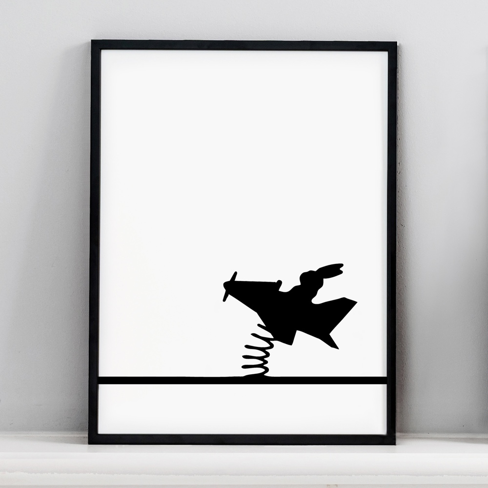 Flying Rabbit Screen Print