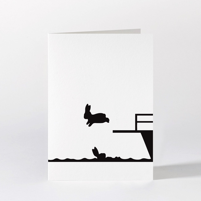 Diving Rabbit Card