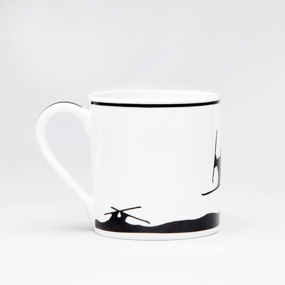 Ski Jumping Rabbit Mug