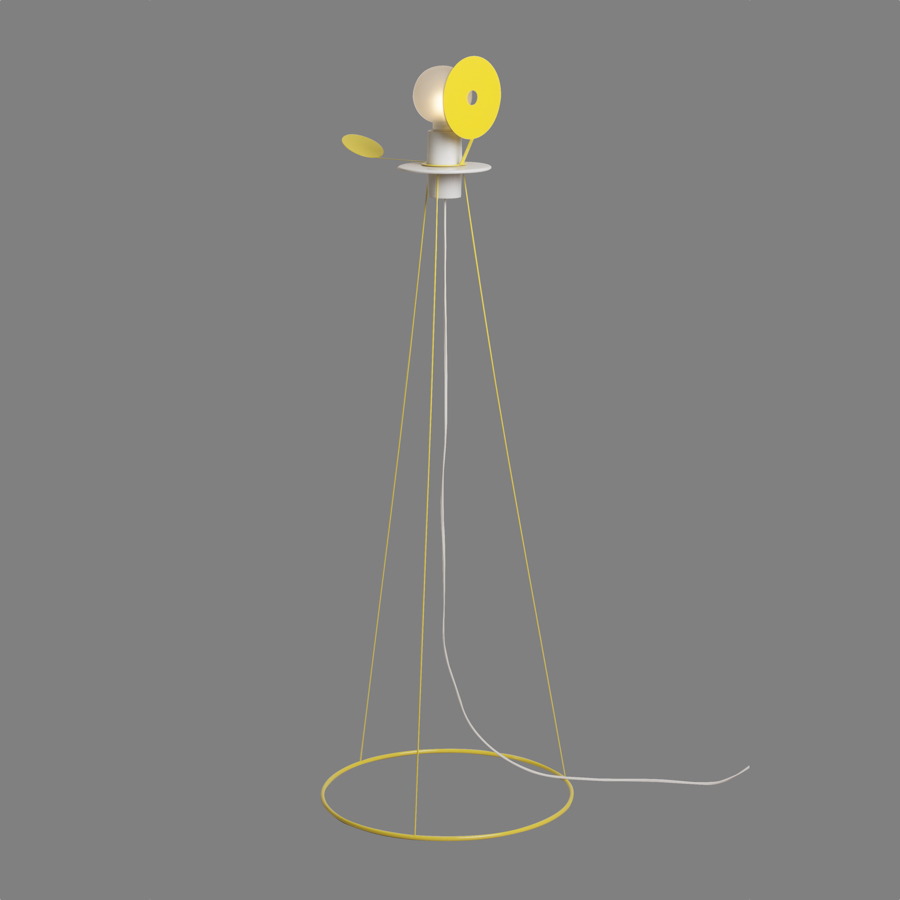 Eclipse floor lamp yellow