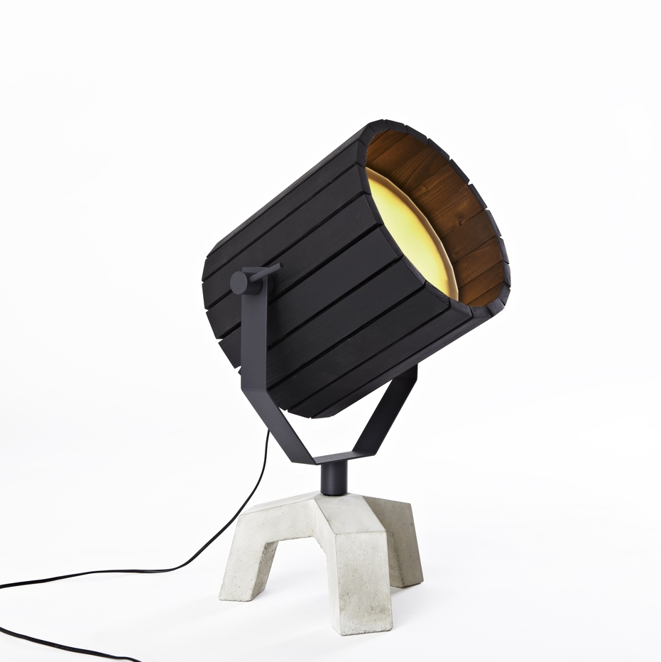 Barrel Lamp Black