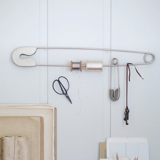 Giant Safety Pin Brass