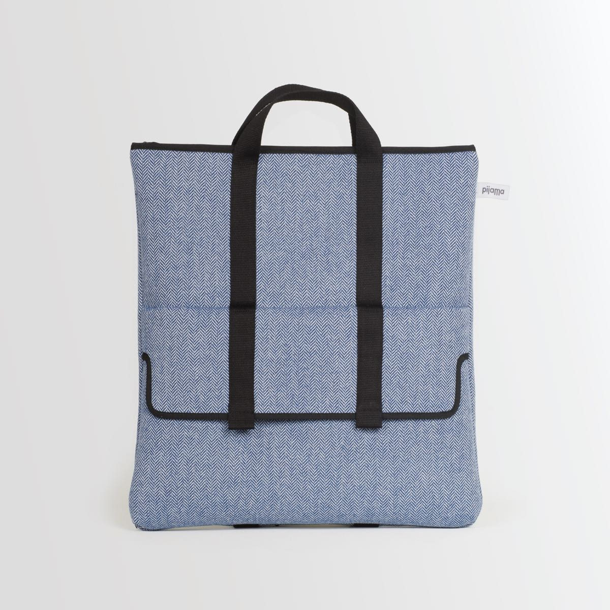 2 Way bag Blue Herringbone
