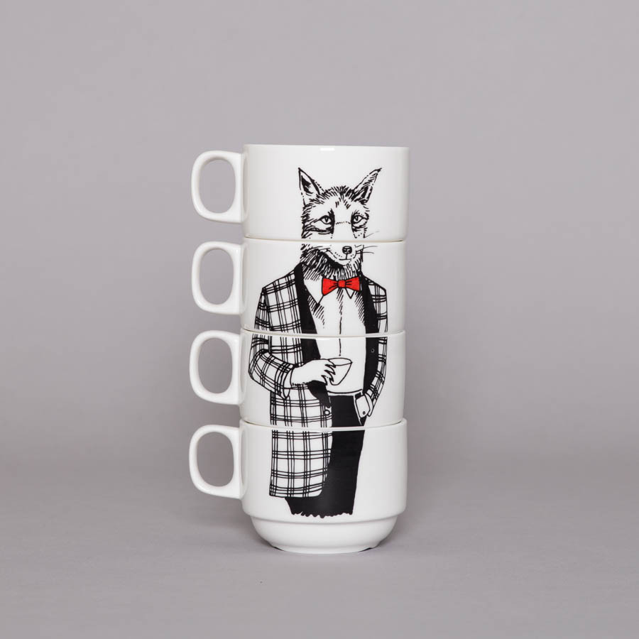 Mr Fox Coffee Cup Set
