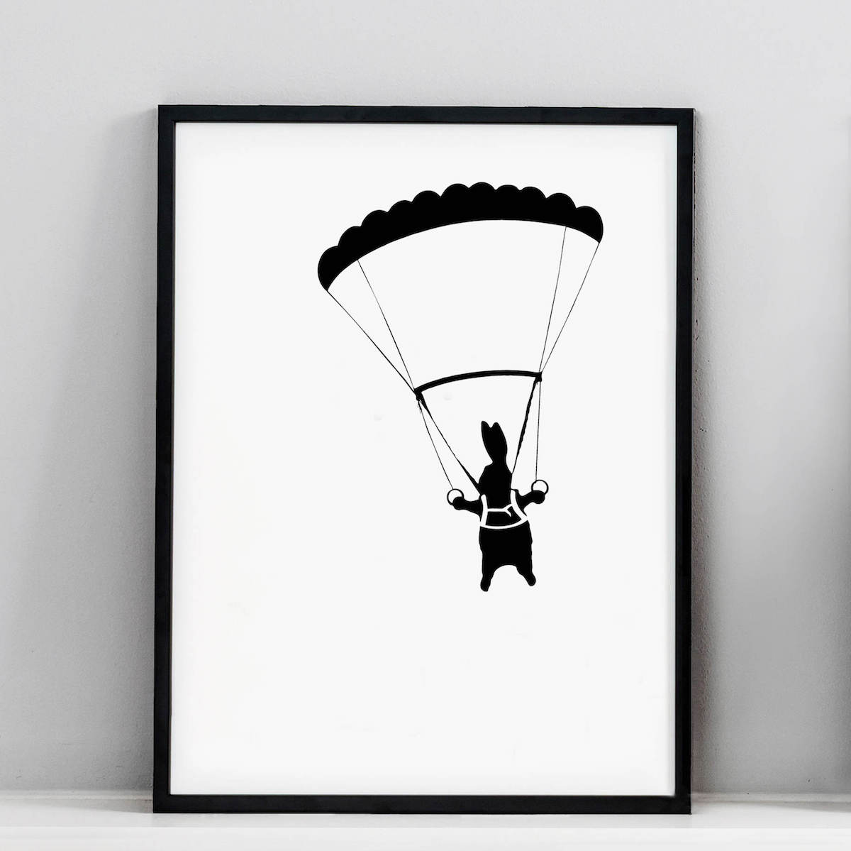 Parachute Rabbit Screen Print
