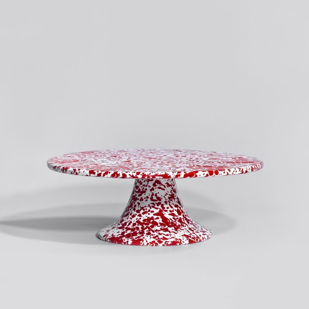 Marbled enamel cake stand