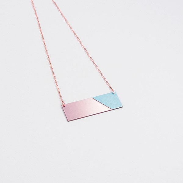 Copper & Formica Necklace Mint