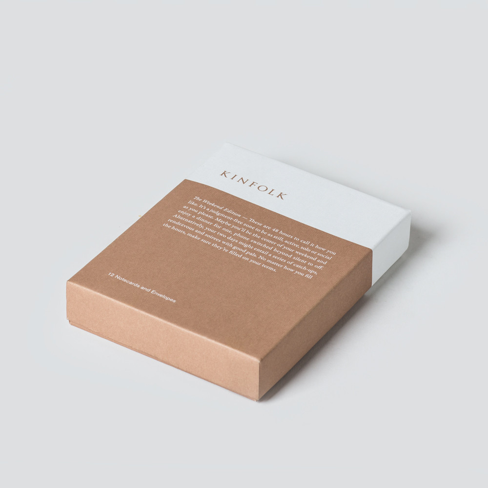 Kinfolk Notecards – The Weekend Edition