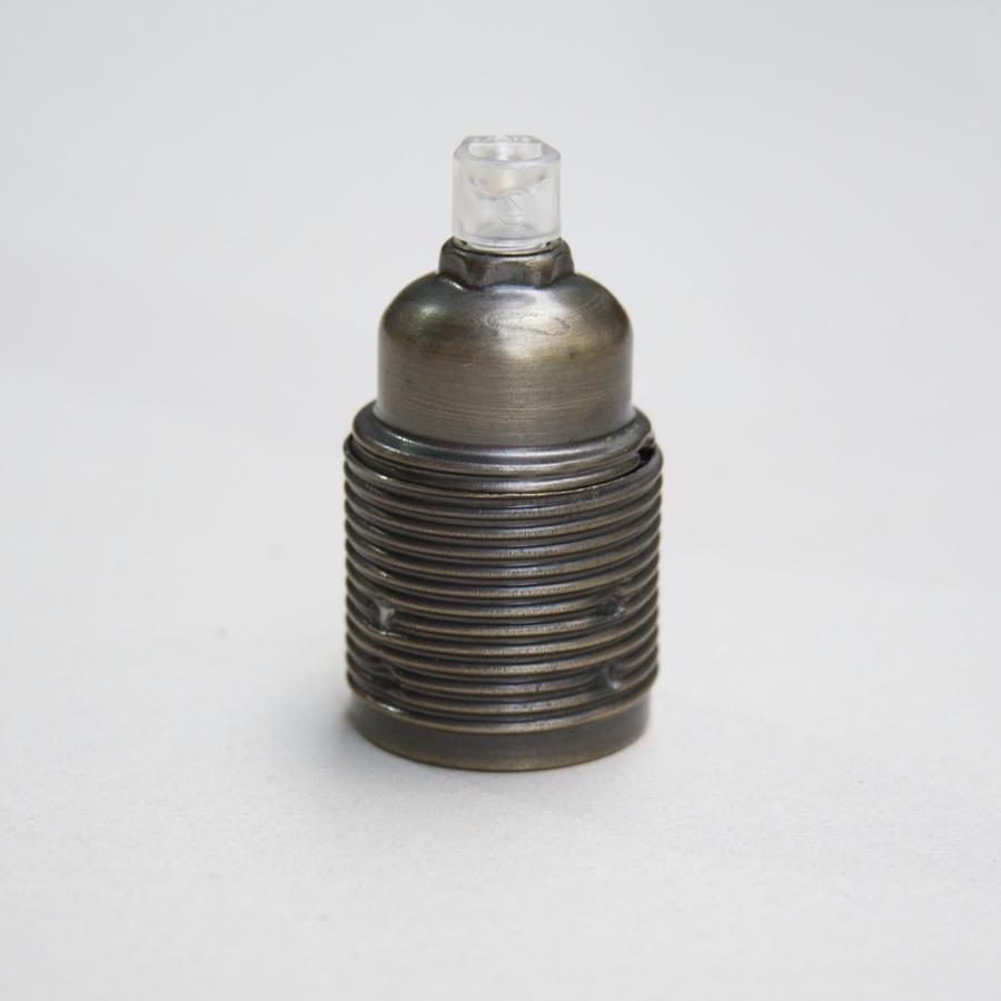 Bulb holder antique brushed