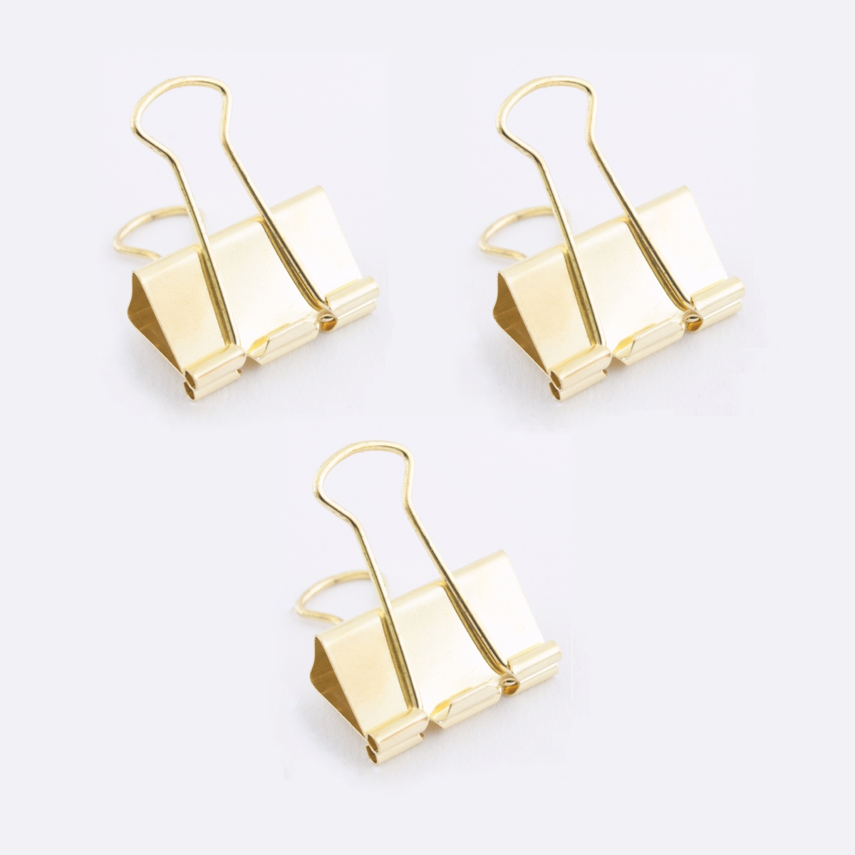 Fold Back Clip Brass x 3