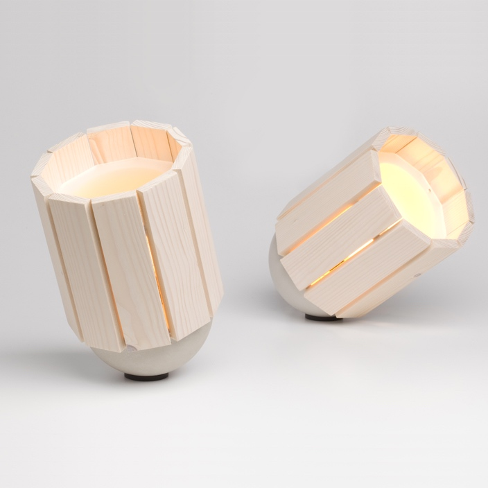 Baby Barrel Lamp Natural