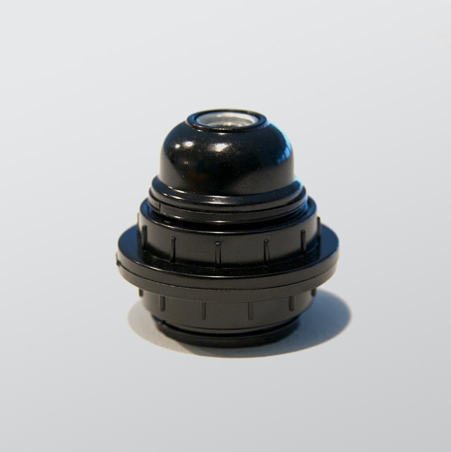 Bulb holder black bakelite