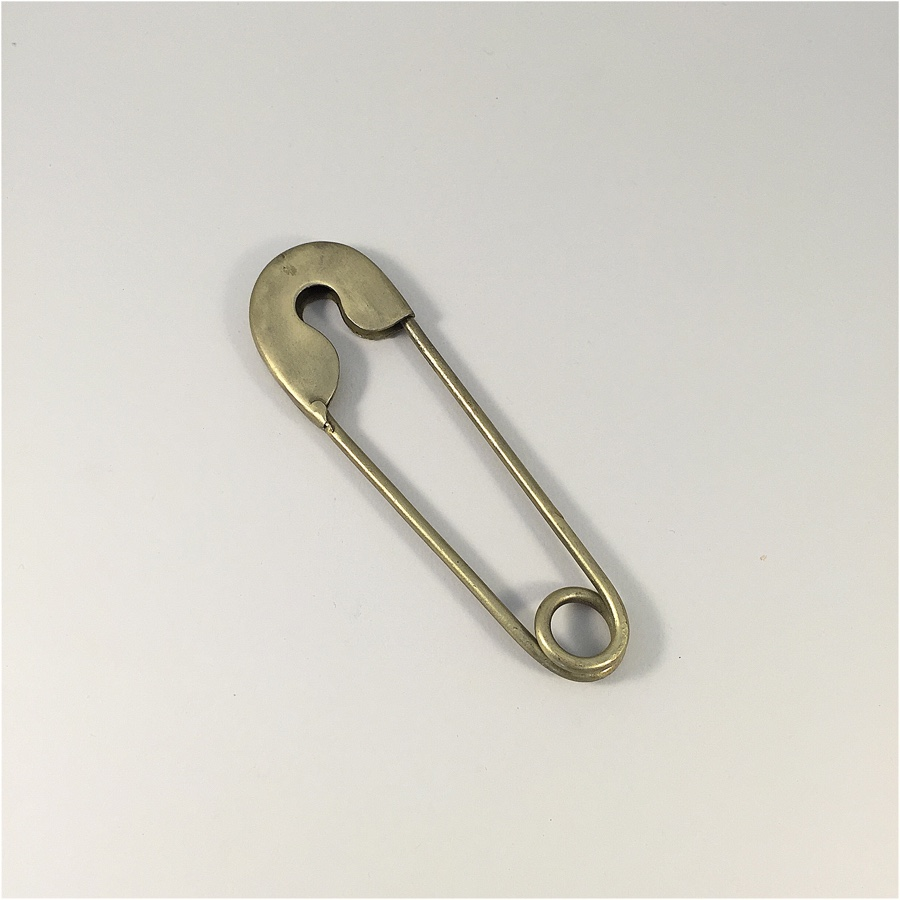 Large Safety Pin Brass