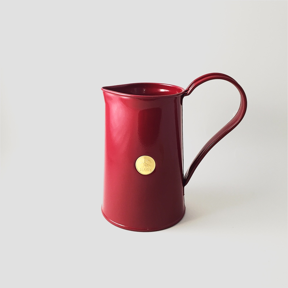 Metal Jug Burgundy