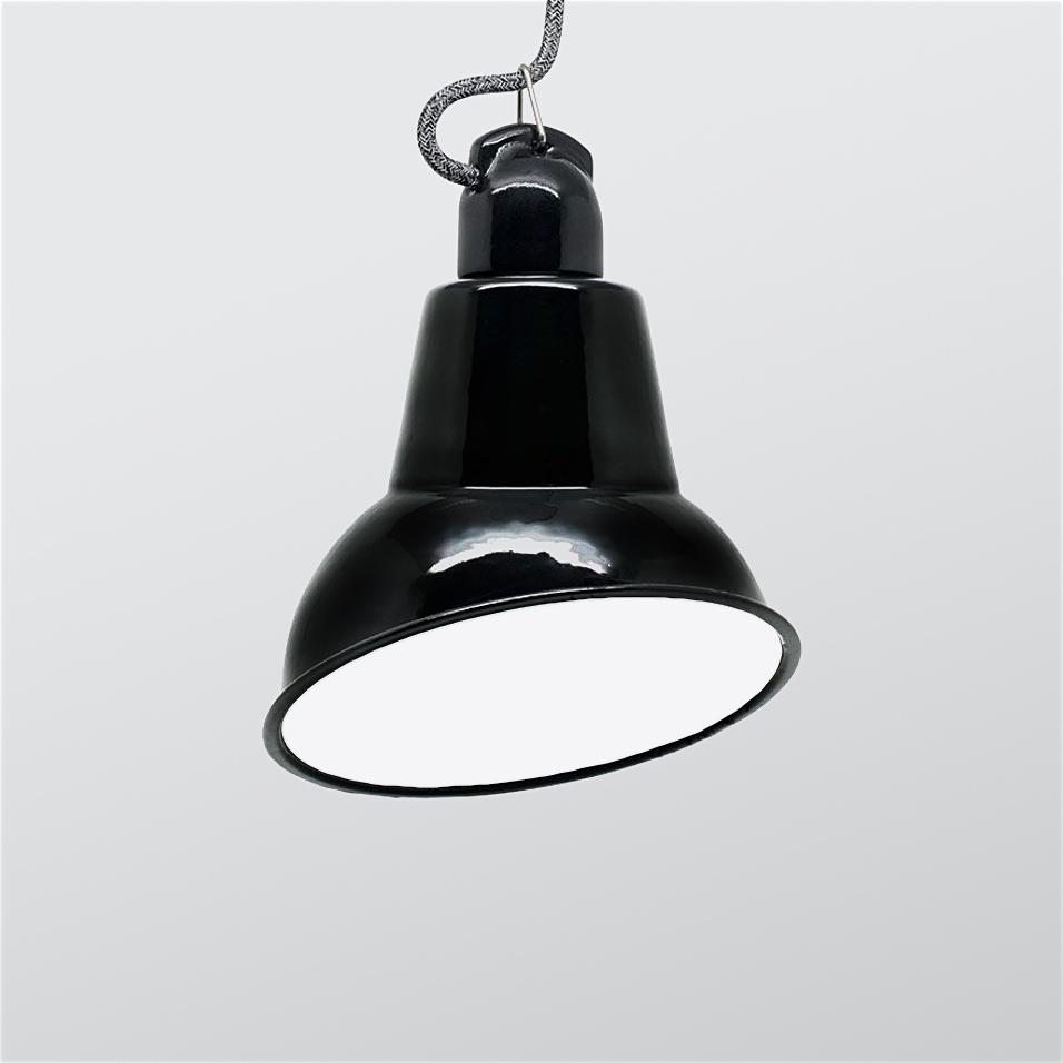 Angled Cloche Enamel Lamp