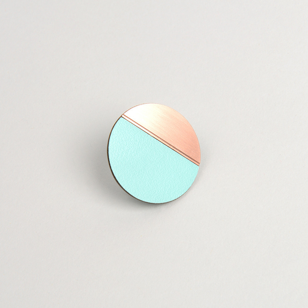 Form Circle Pin Copper & Mint