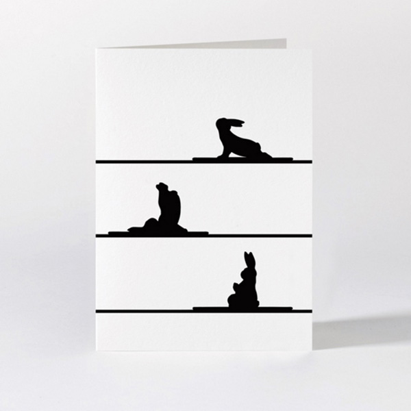 Yoga Rabbit Card