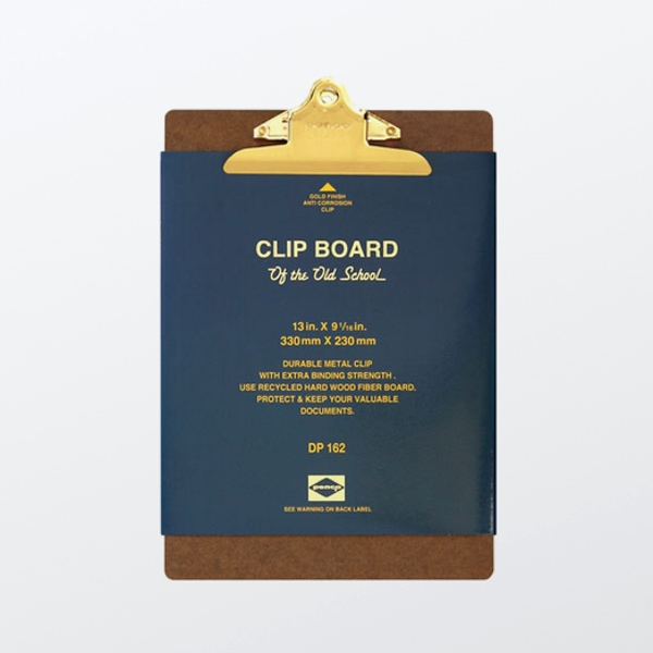 Clipboard A4 Gold
