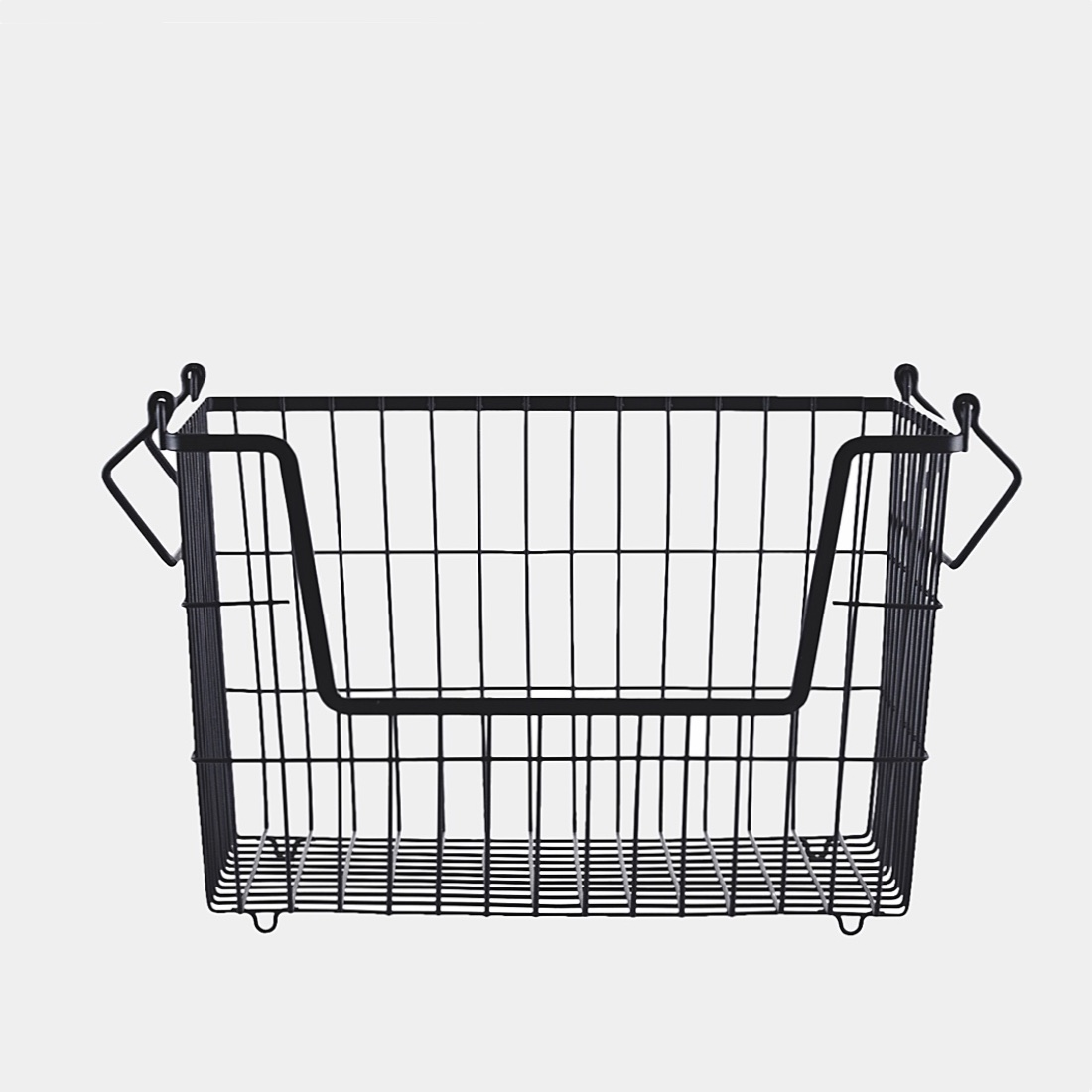 Basket with handles black