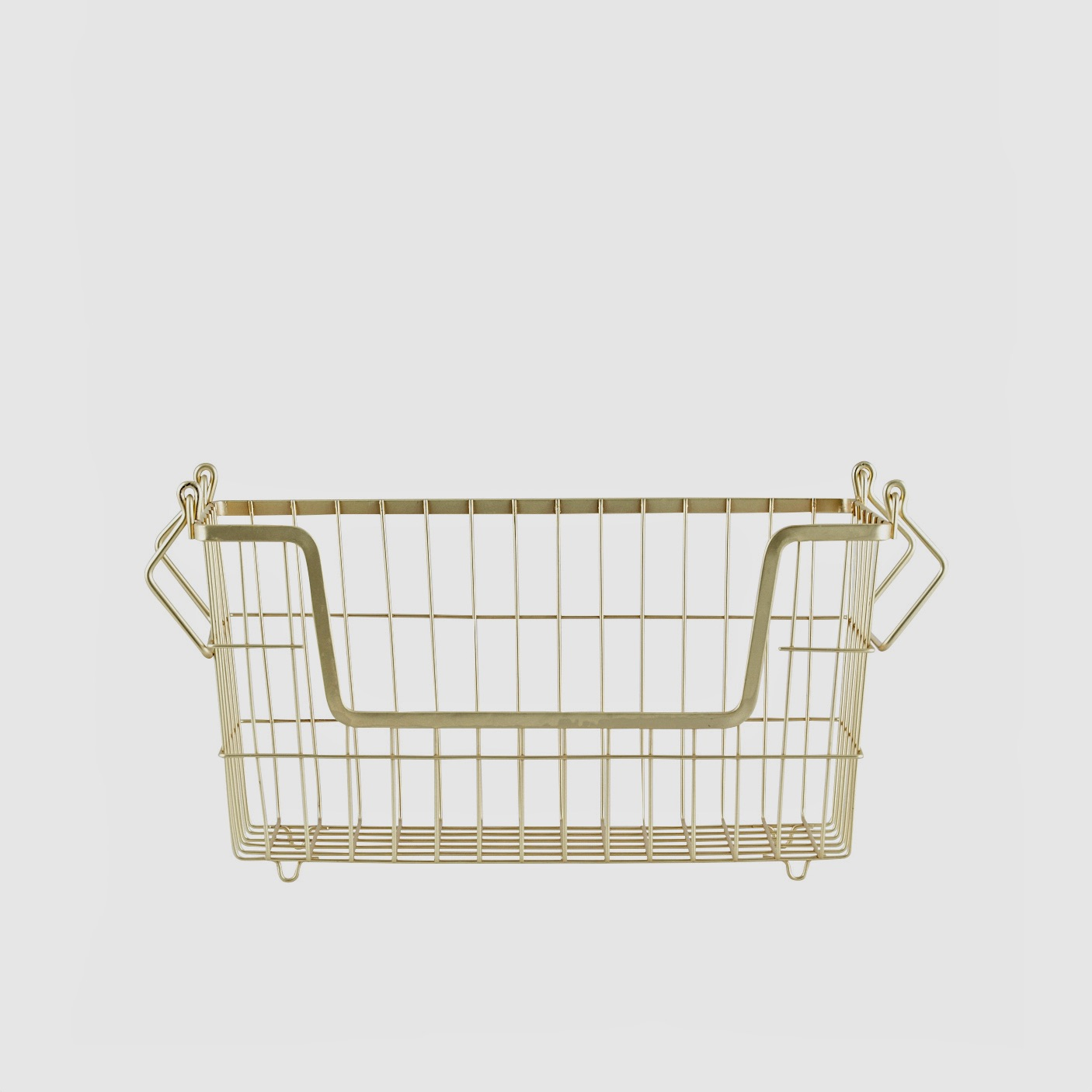 Basket with handles gold small