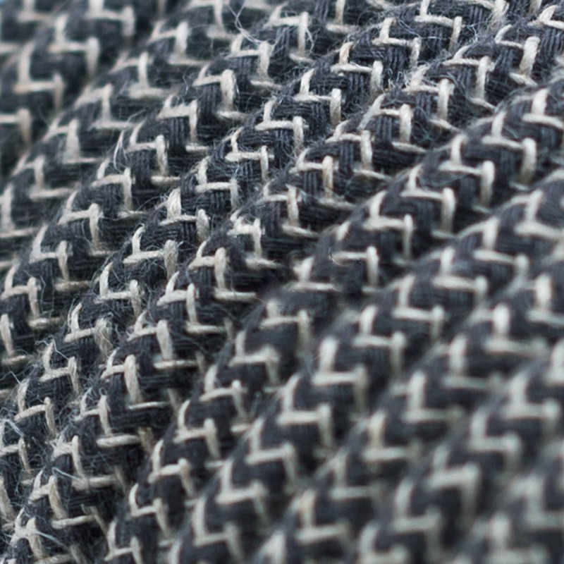 Anthracite ZigZag Cotton Round
