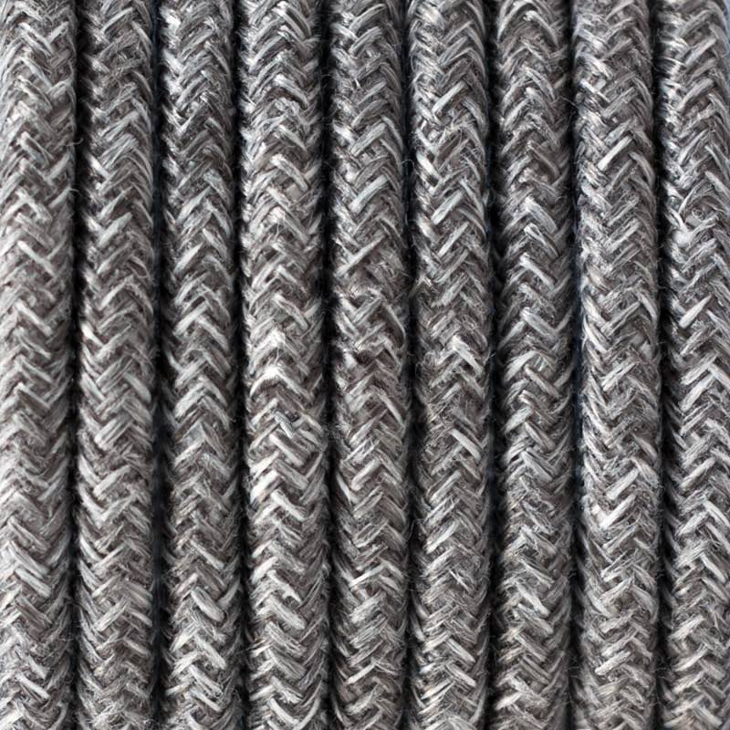 Grey Linen Round