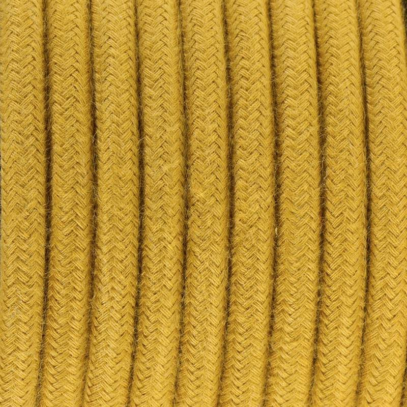 Mustard Cotton Round