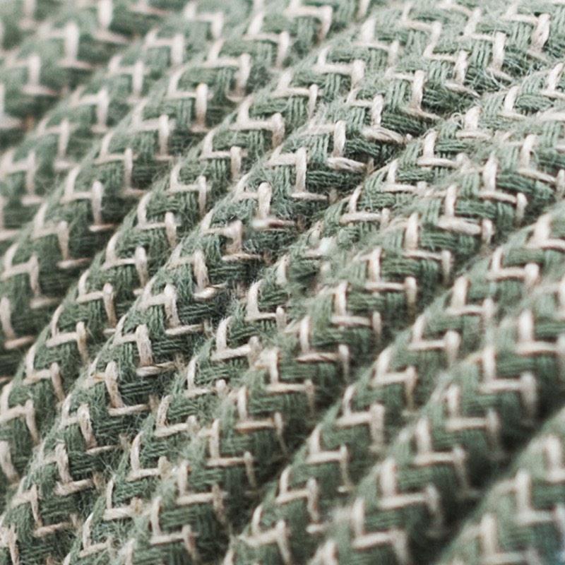 Green Thyme ZigZag Cotton Round