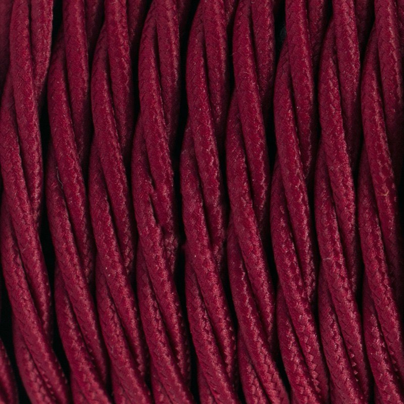 Burgundy Rayon Twisted