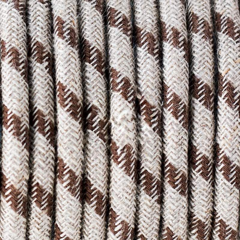 Bark Stripes Cotton Round