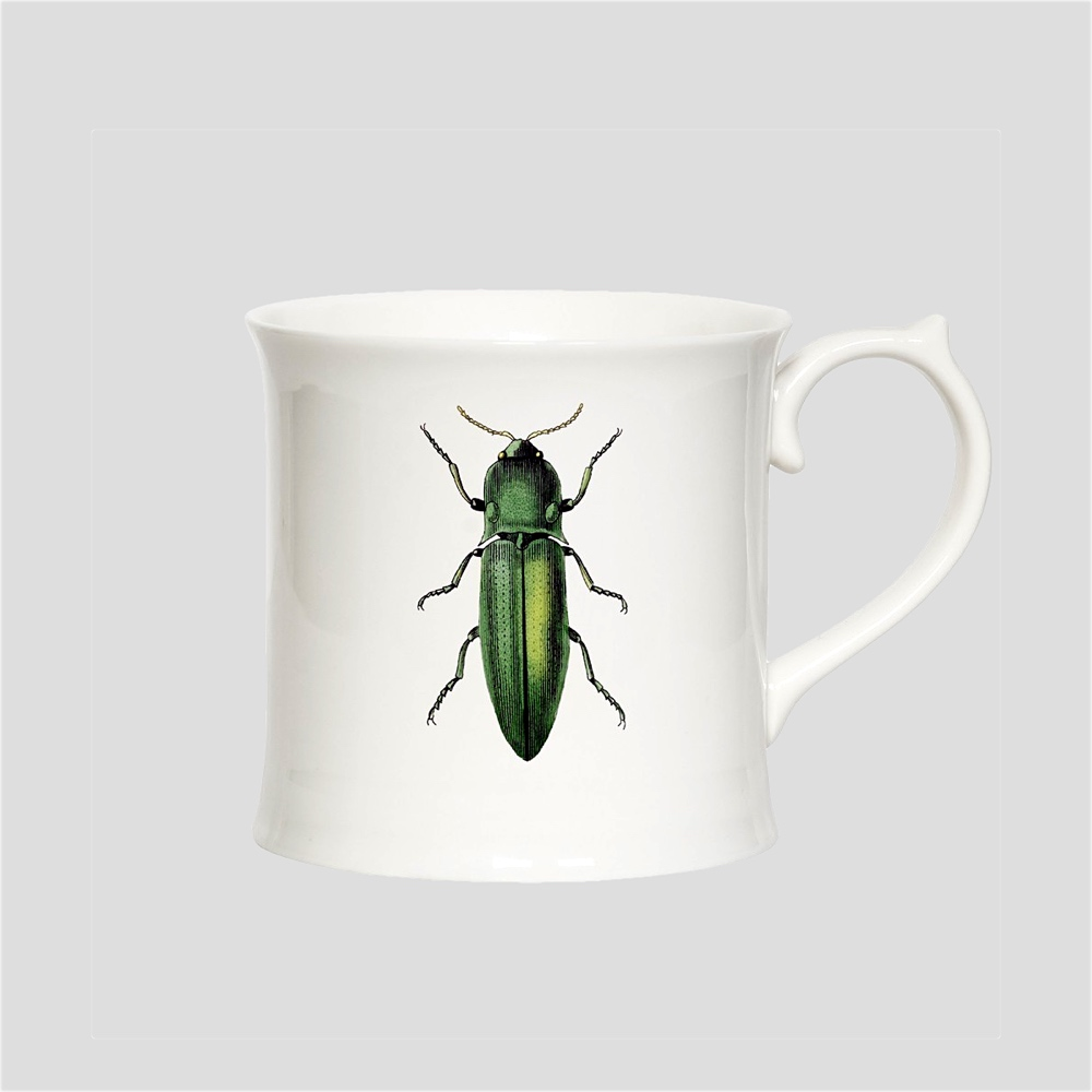 Green Beetle mug