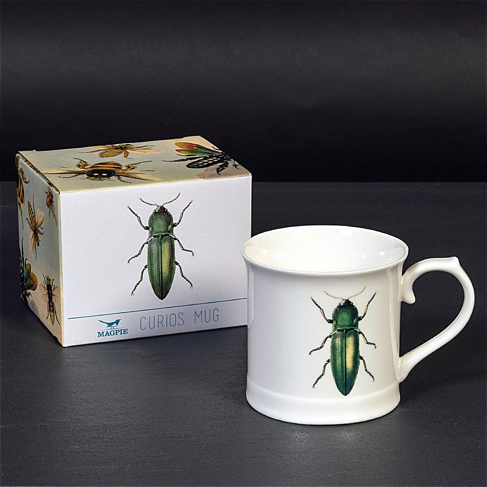 Green Beetle mug