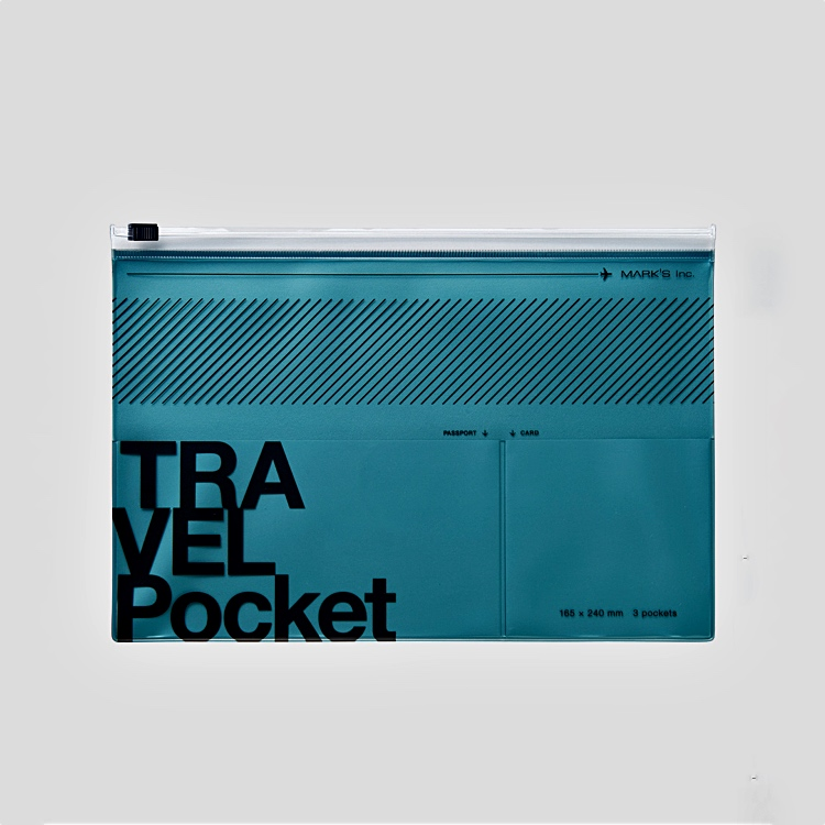 Travel File Case Metallic Blue