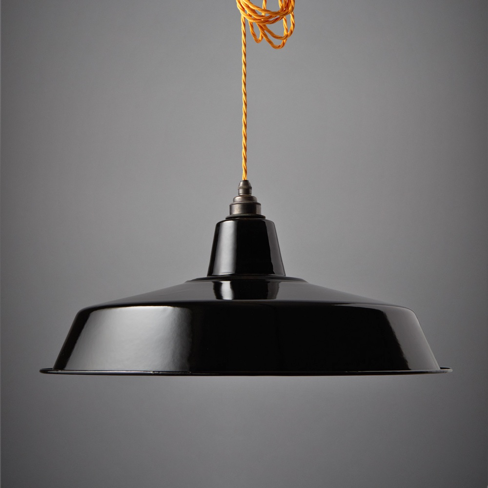Large Enamel Shade Black