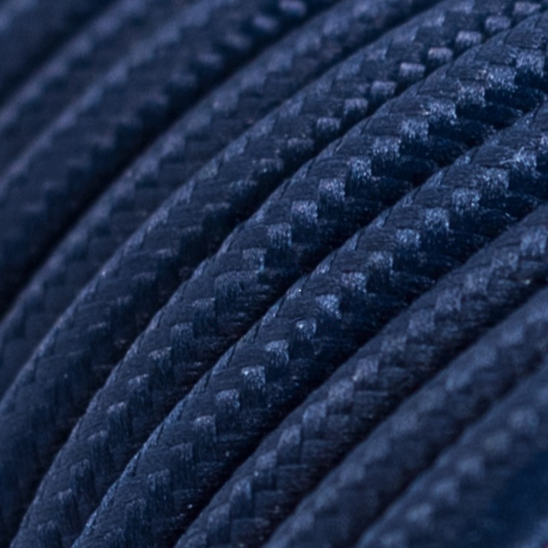 Dark blue Rayon Round