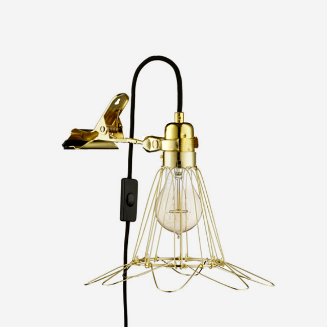 Work Lamp de Lux Brass