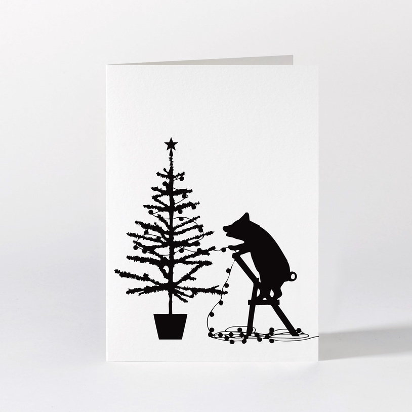 Tree Trimming Pig Card