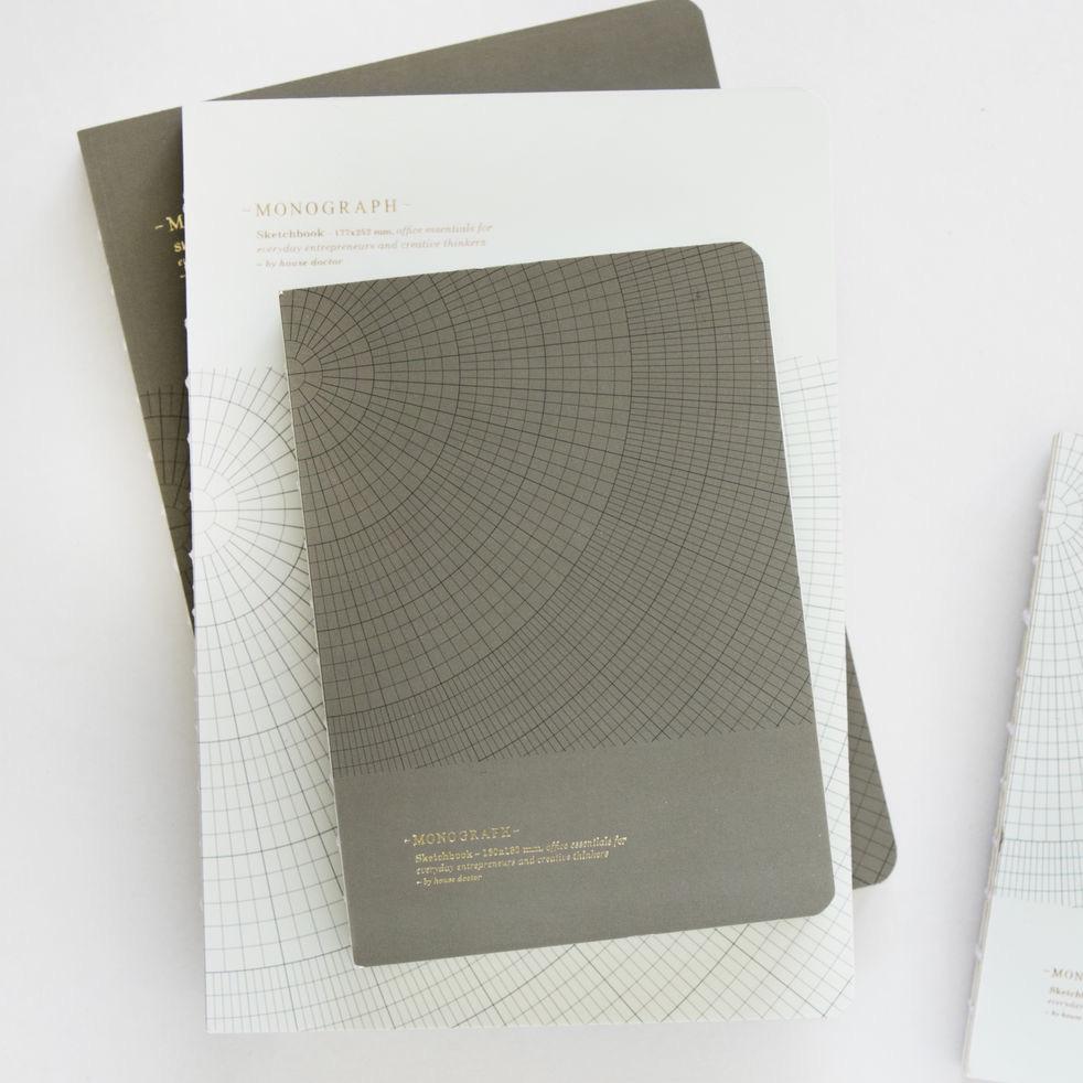 Notebook Geometric Grey Large