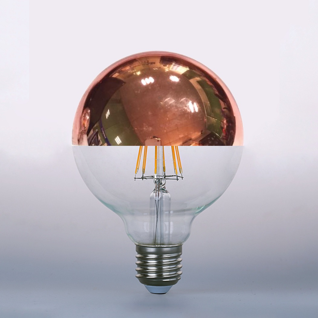 Led Crown Mirror Copper