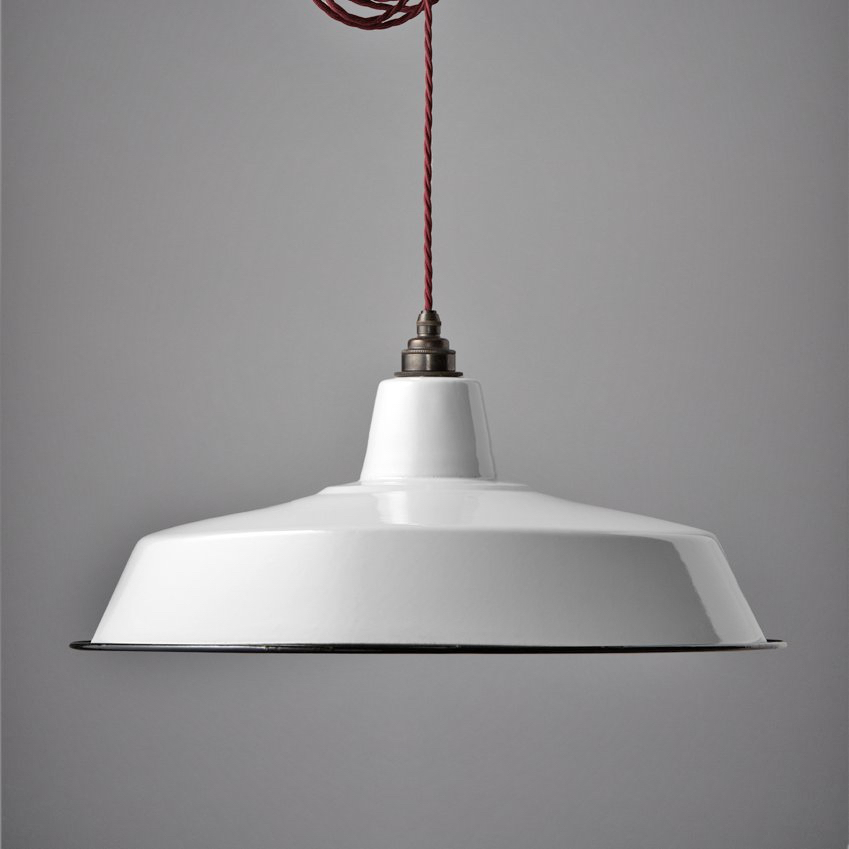 Large Enamel Shade White
