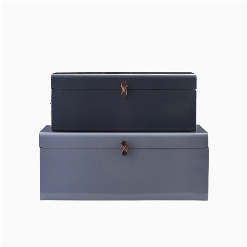 Storage Suitcases Blue-Grey