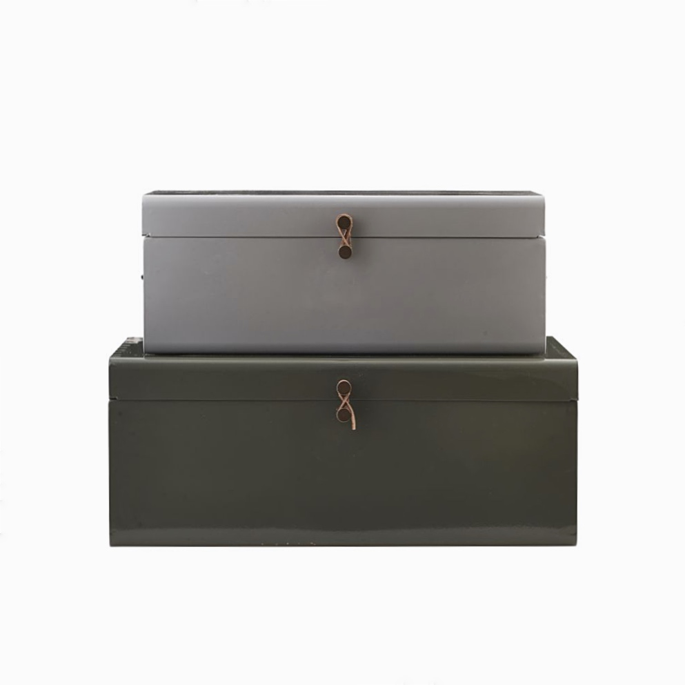 Storage Suitcases Green-Grey