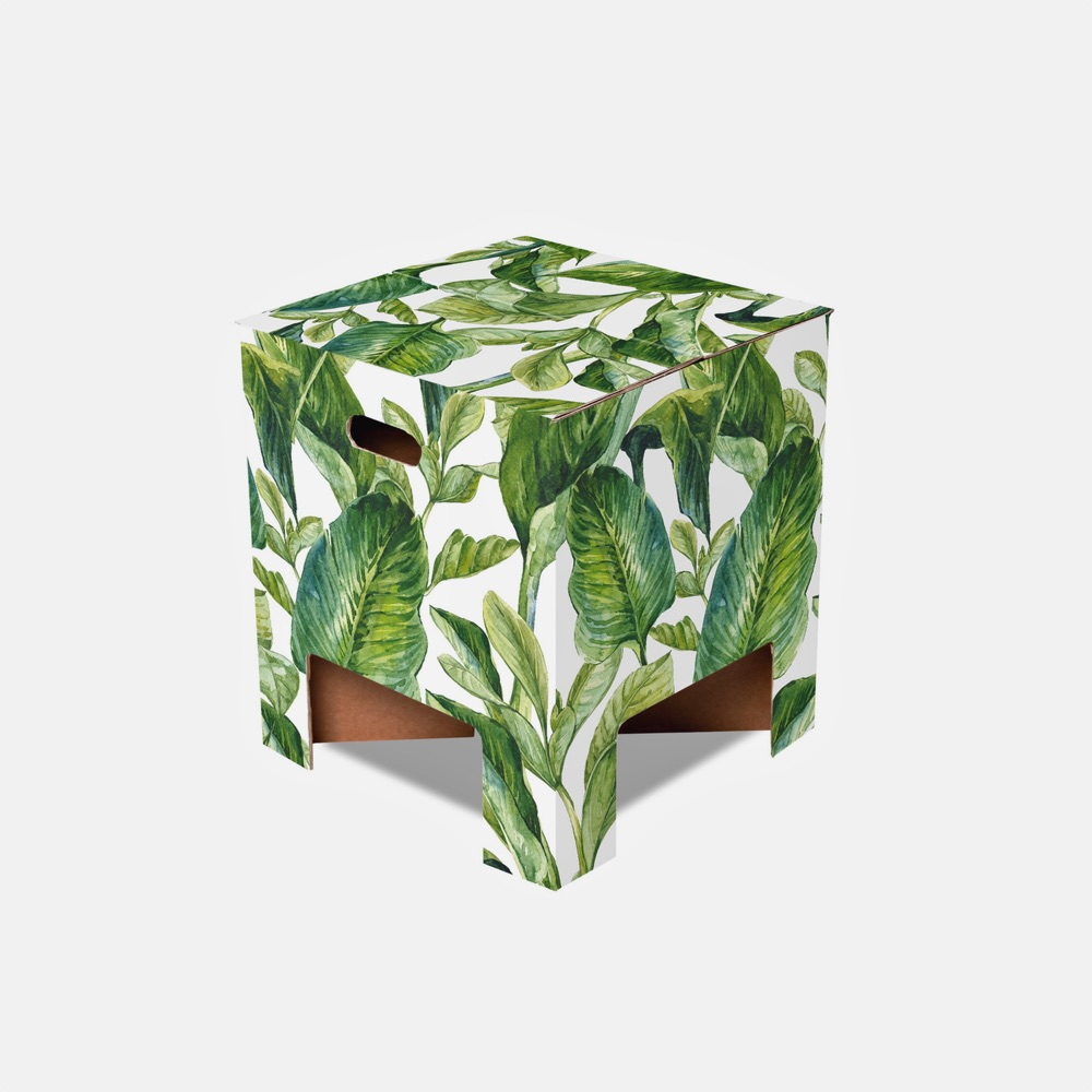 Dutch Design Chair Green Leaves