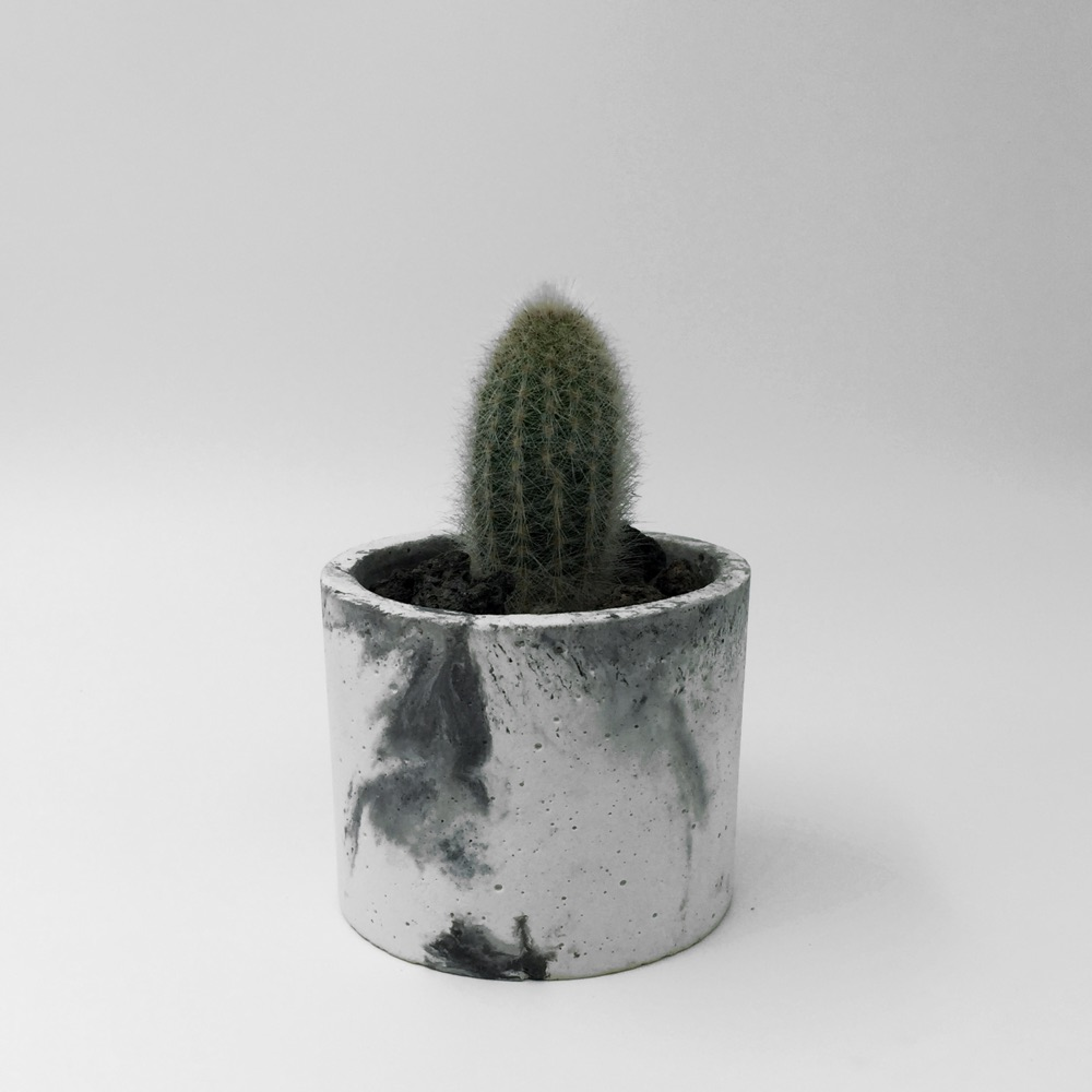 Concrete Planter Marbled
