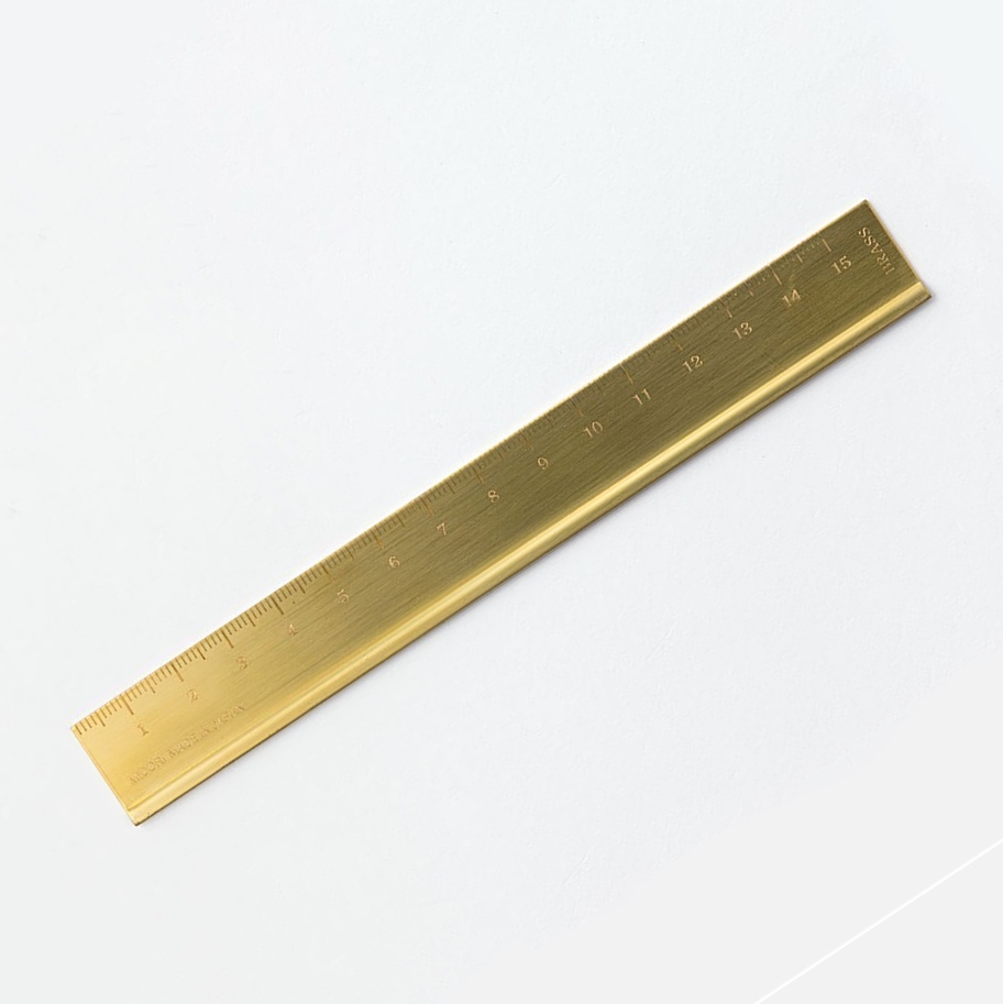 Solid Brass Ruler