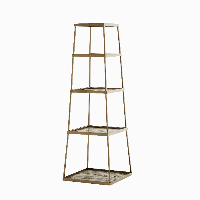 Antique Brass 4-Piece Rack